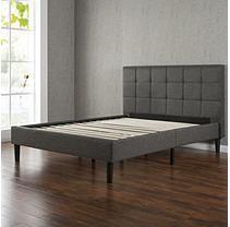 Helena Black Decorative Metal Platform Slat Bed Full Metal Bed