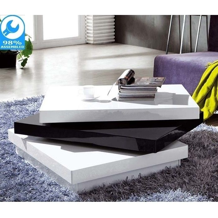 artisco square coffee table in black and white buy tables