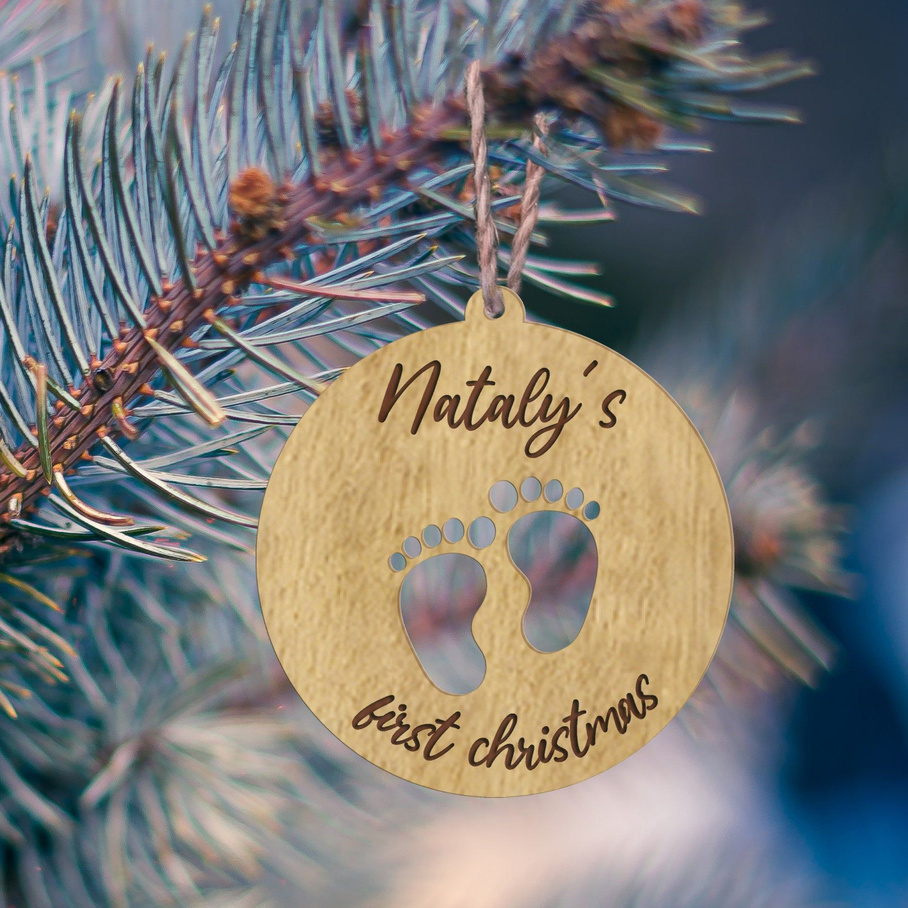 Personalised Christmas Ornament Feet Baby Name Xmas Tree Etsy Christmas Ornaments Personalized Christmas Personalized Christmas Ornaments
