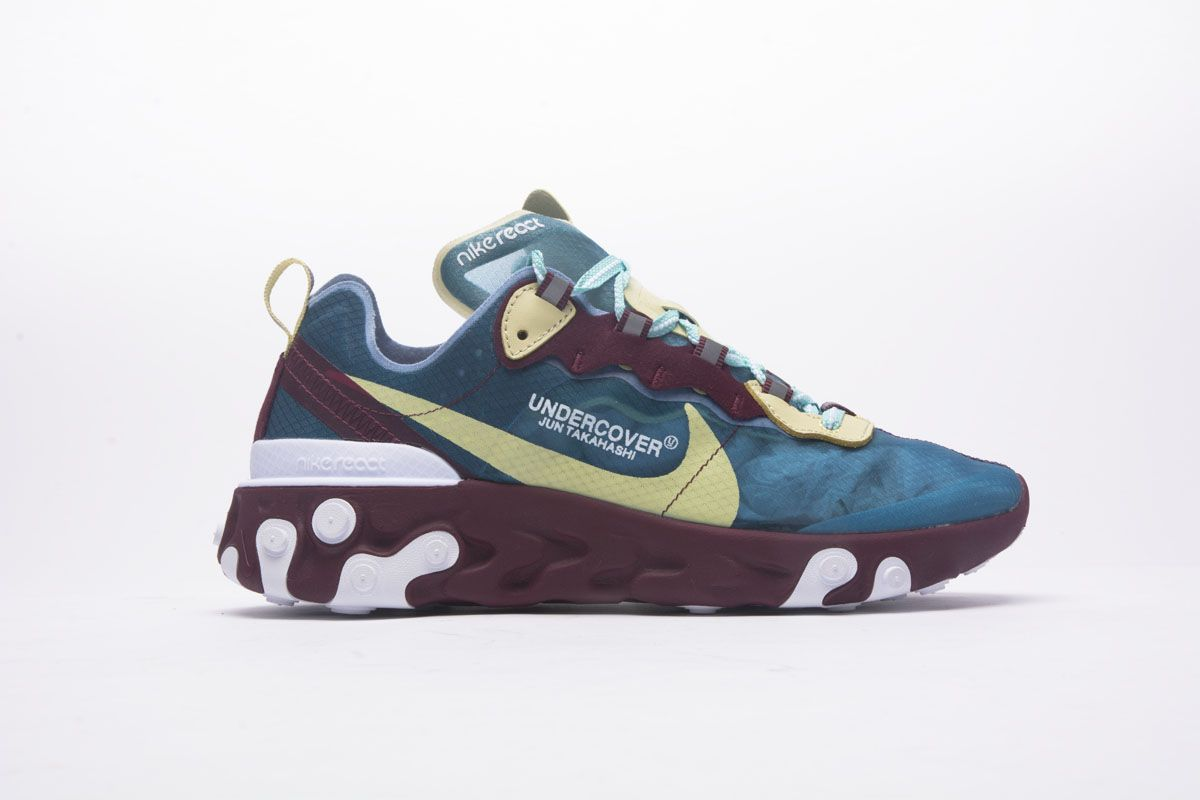 0cb3a8a45a61 UNDERCOVER x NIKE EPIC REACT ELEMENT 87 AQ1813 343 BLUE YELLOW SHOES3