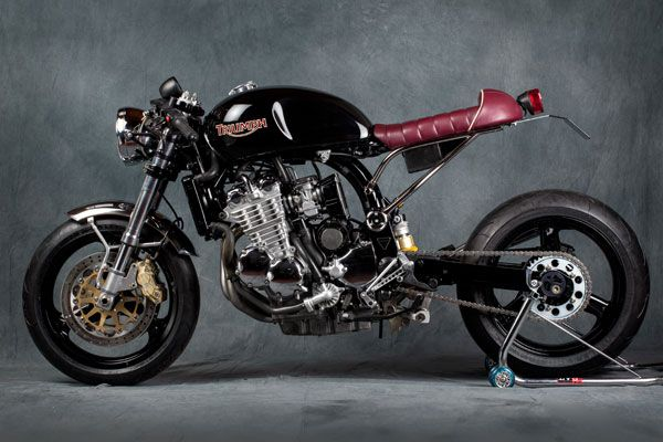One Of Our Favorite Mr Originally A 2000 Triumph Legend TT And Converted To Badass Modern Cafe Racer