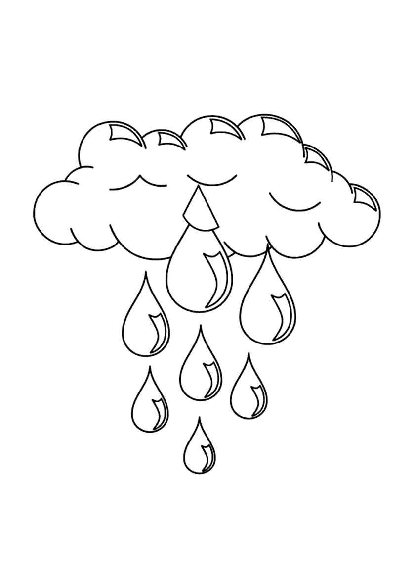 Rain Cloud Coloring Pages Free Coloring Pages
