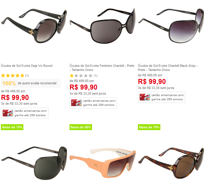 212fba44e Óculos de Sol Femininos Evoke - Vàrios Modelos Disponíveis << R ...