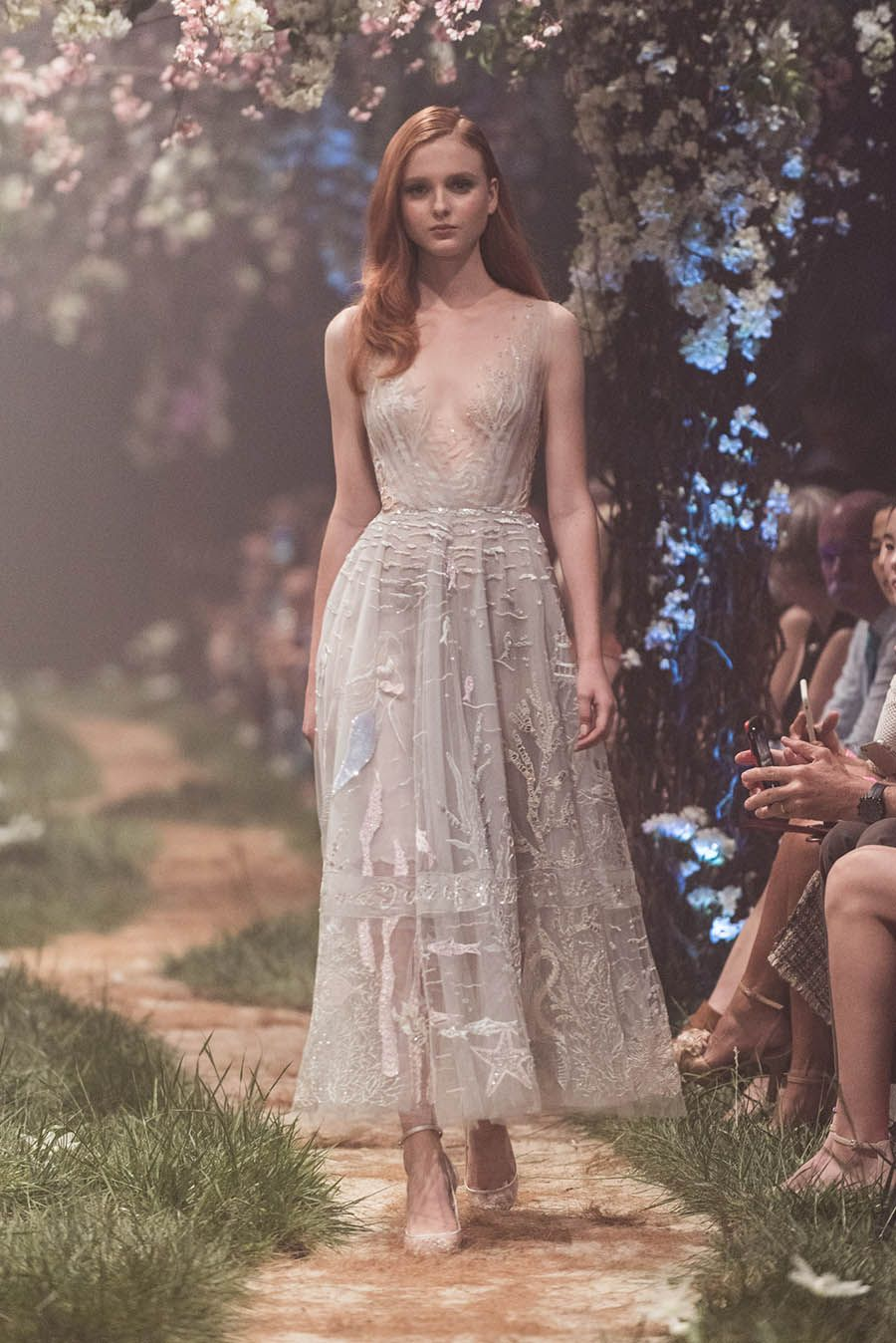 7c7343894bf A gorgeous Paolo Sebastian fairytale wedding gown with sexy plunging  neckline