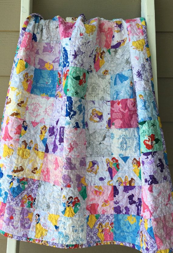 Ready to ship modern Disney princess baby quilt, toddler princess ... : disney princess quilt - Adamdwight.com