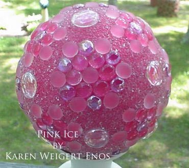 Decorative Yard Balls Garden Balls Tutorial Showing How To Make Garden Art Balls With