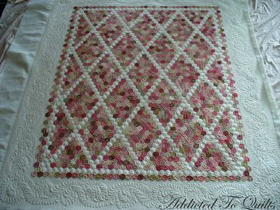 Addicted To Quilts: Pink Hexagon Quilt