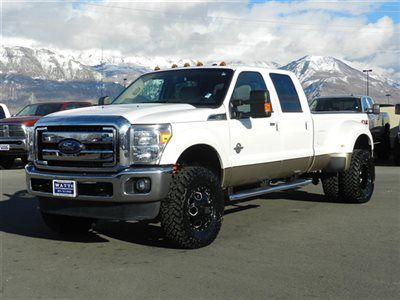 Ford Crew Cab Lariat 4x4 Powerstroke Diesel Custom Lift Wheels