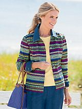 Artisan Stripe Jacket and other Womens Jackets at Appleseed?s. | Appleseeds