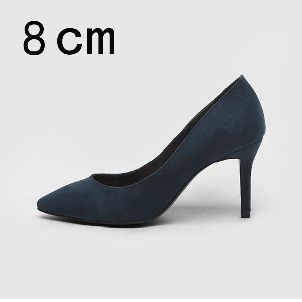 Women High Heels Female Shoes Women Pumps Solid Pointed Toe Wedding Shoes Spring Autumn Elegant Offical Ladies Shoes Plus Size - Nude Pumps 6cm 5