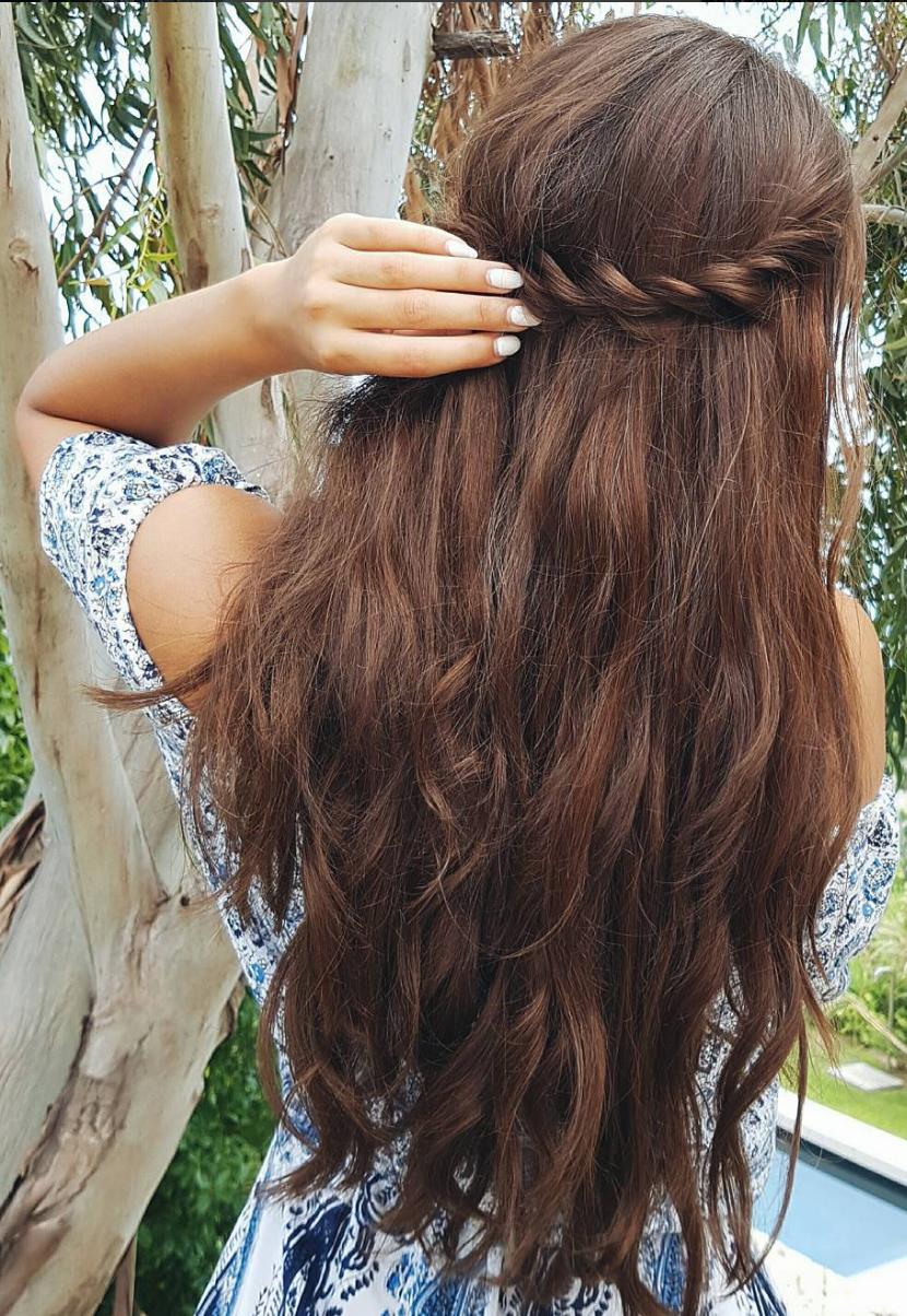 Pretty Long Hair Liliyakay Is Wearing Chocolate Brown Luxy Hair
