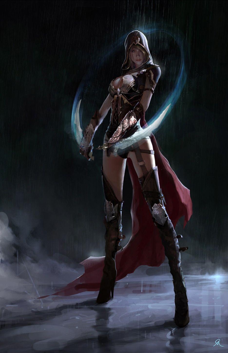 Pin By Ayela On Art Work That I Love Female Assassin Geek Art Fantasy Women