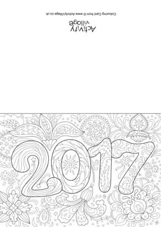 2017 Doodle Colouring Card