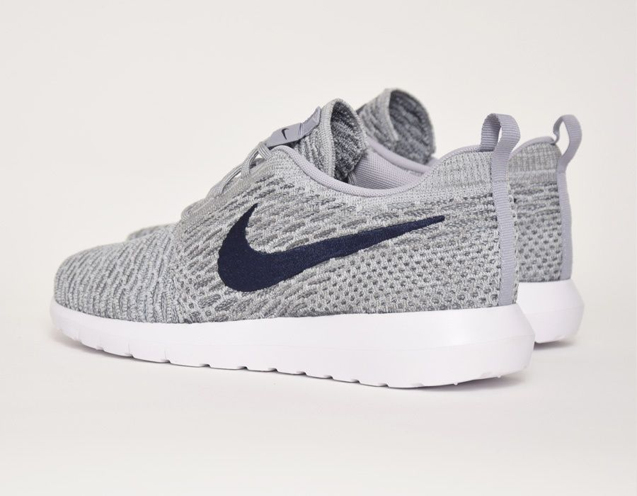 #Nike Flyknit Roshe Run Grey/Blue #sneakers. Chaussures De Course ...