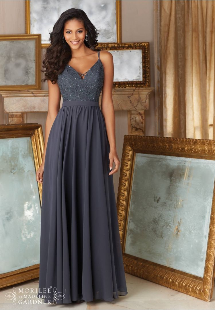 Mori lee style 146 charcoal sz 8 186 available at for Wedding dress jacksonville fl