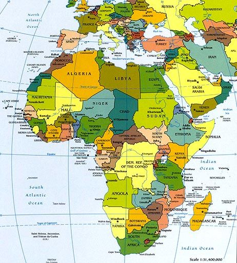 Africa Map / Map of Africa   Facts, Geography, History of Africa