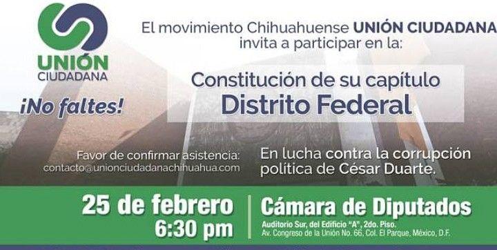 Integrantes de Unión Ciudadana denuncian hostigamiento tras exhibir las rapacerías del priista César Duarte en Chihuahua