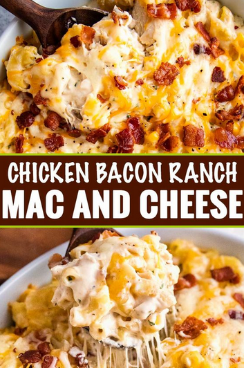 Chicken Bacon Ranch Mac and Cheese Casserole #Recipes images