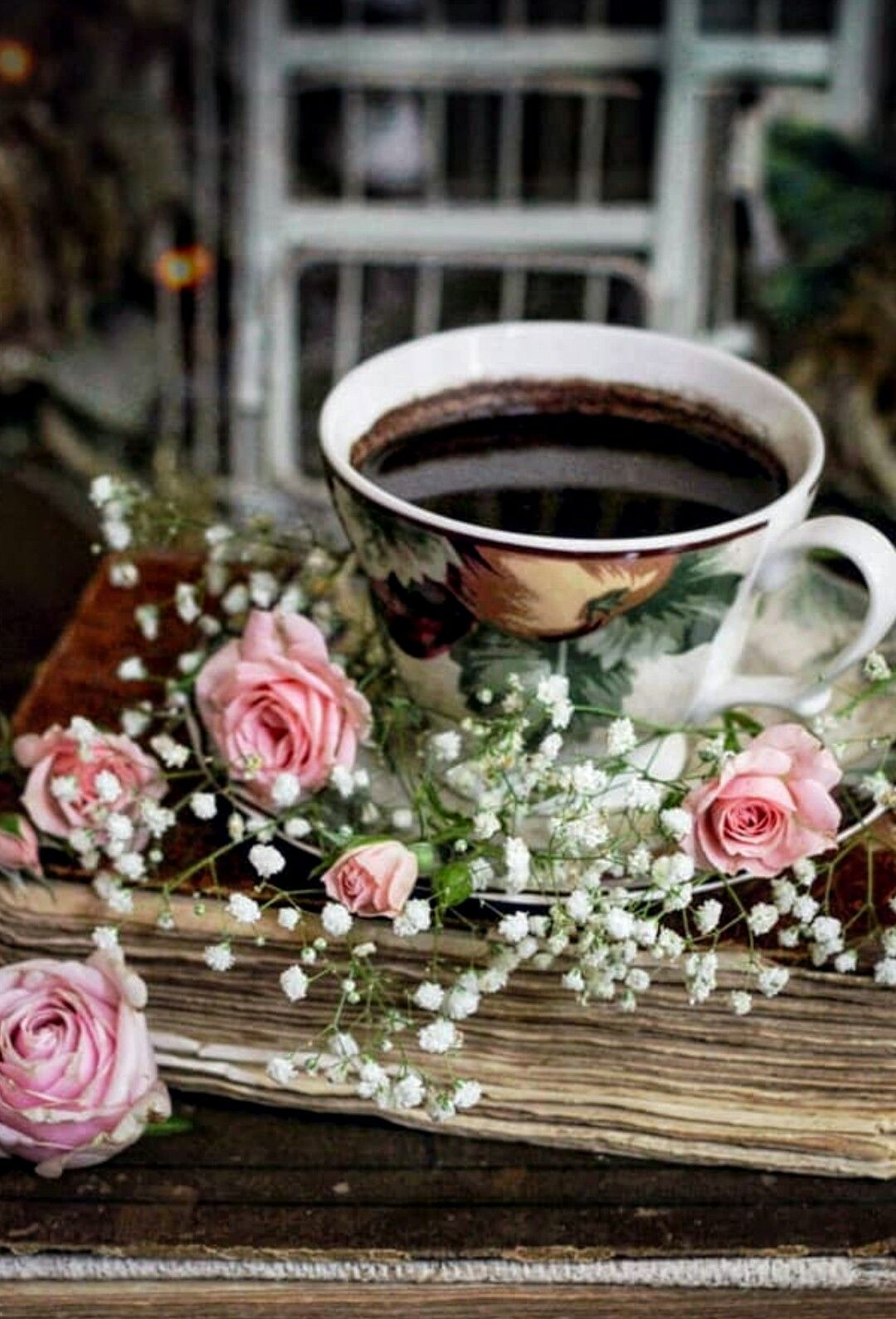 красивые картинки с кофе и цветами доброе как поется известной