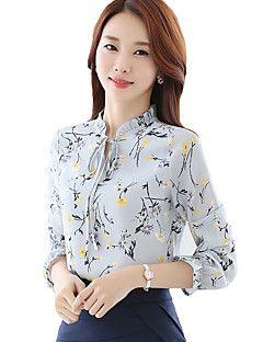f02228210 Mulheres Camisa Casual Moda de Rua Todas as Estações