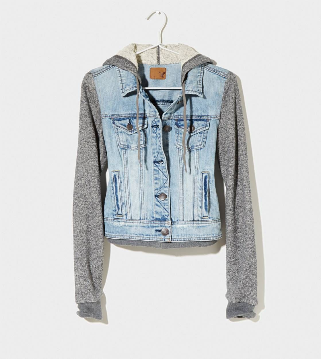 AEO Embroidered Tiger Denim Jacket | Follow me, American eagle ...