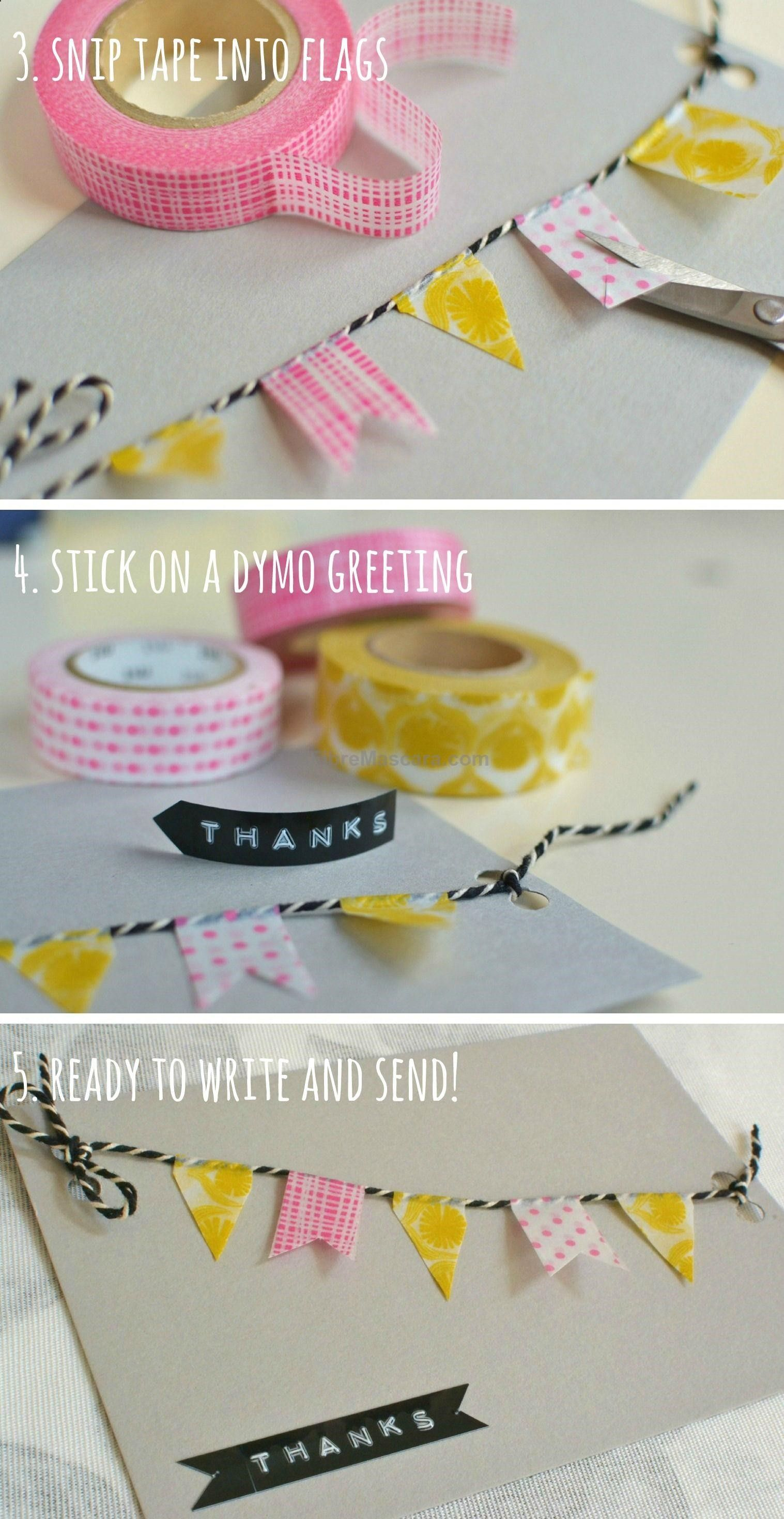 Cute And Quick Homemade Thank You Cards  Decorators Notebook