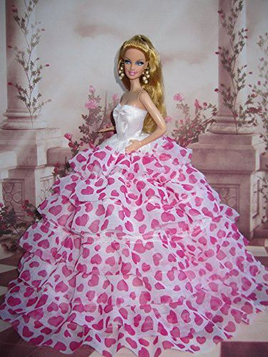 0097bfedd3a Barbie Doll Clothes Lovely Fancy Gowns Wedding Evening Party Ball Dress  STYLE 25
