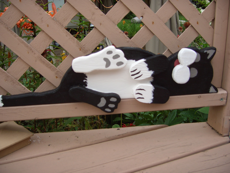 chat au repos holz pinterest holz holzfiguren und holztiere. Black Bedroom Furniture Sets. Home Design Ideas