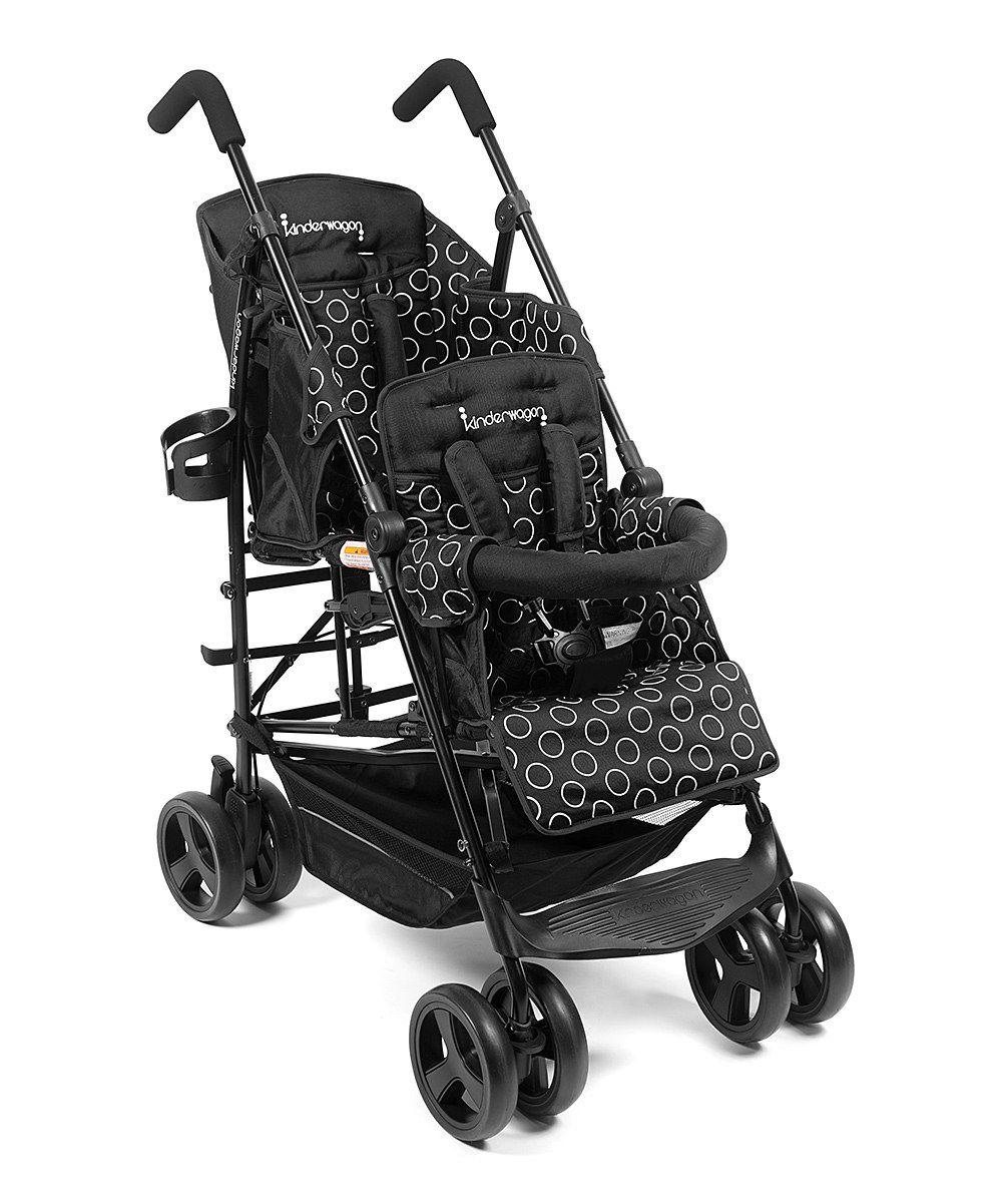 Black Kinderwagon Hop Stroller Double baby strollers