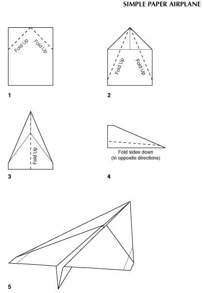 plan for simple folded paper airplane