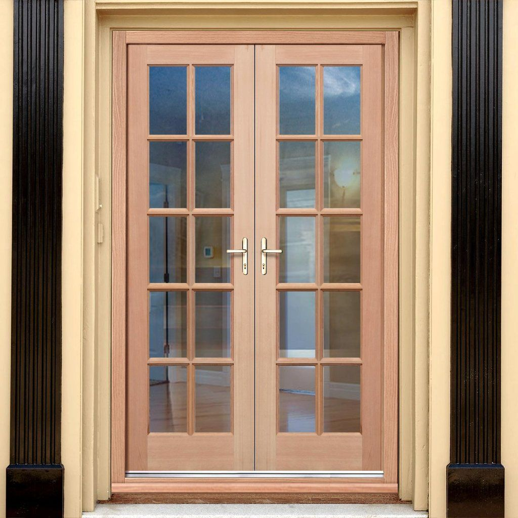 Exterior Hemlock Gtp 10 Pane Door Pair Fit Your Own Glass External Doors Exterior Doors Doors