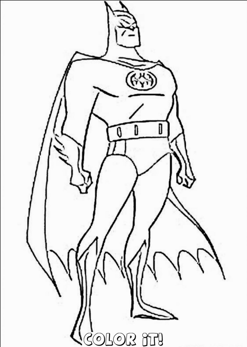 Batman colouring in online - Batman Coloring Pages Online