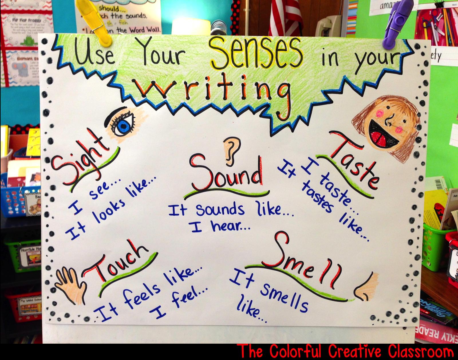 004 My Five Senses Anchor Chart Best of First Grade