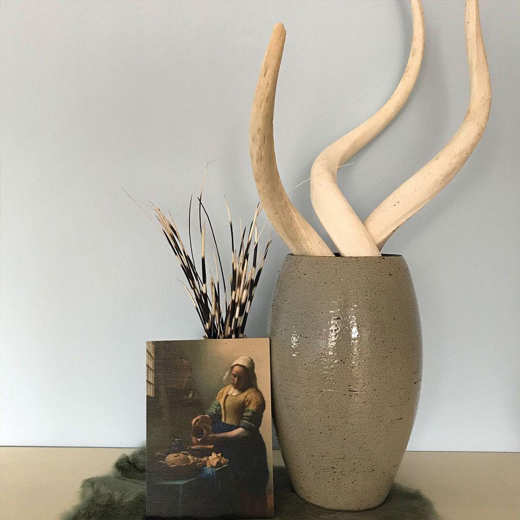 Witte Kudu Hoorns In Een Vaas Kudu Hoorn Decoratie Binnenkijker Wonenlandelijkesfeer Naturelwonen Africa Decoratie Hoorns Interieur