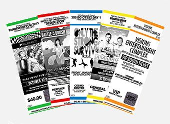 myzone printing offers custom event tickets that are perfect for any