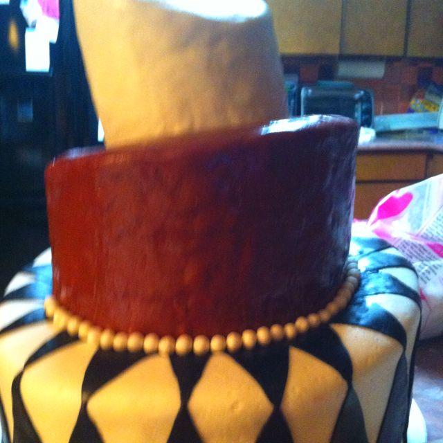 Party cake in progress!