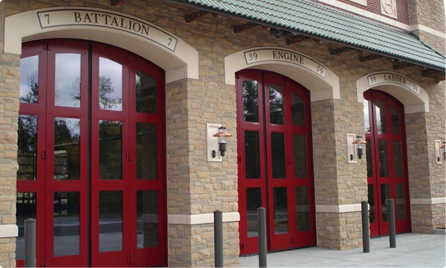 Four Fold Fire Station Doors Commercial Garage Doors