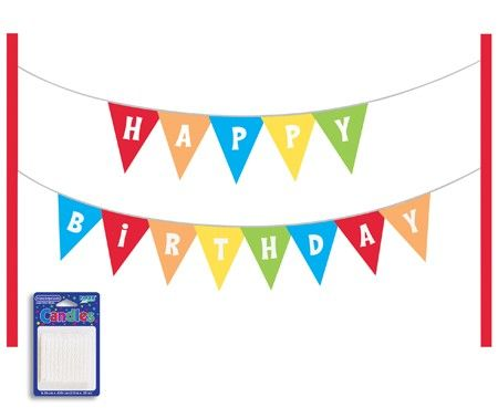 happy birthday pennant banner cake kit party supplies cake