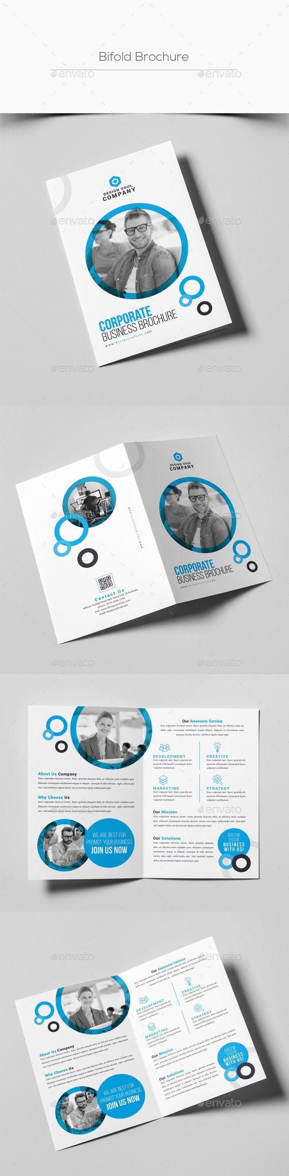 Bifold Brochure Pinterest Brochures Corporate Brochure And