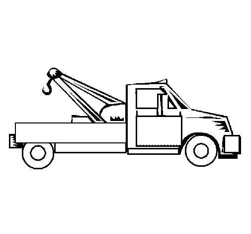 Tow Truck Coloring Pages Truck Coloring Pages Tow Truck Abc Coloring Pages
