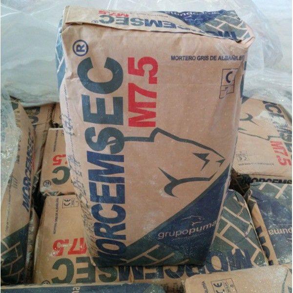 Saco de mortero preparado de alba ileria m7 5 gris 25 kg - Precio de saco de cemento gris ...