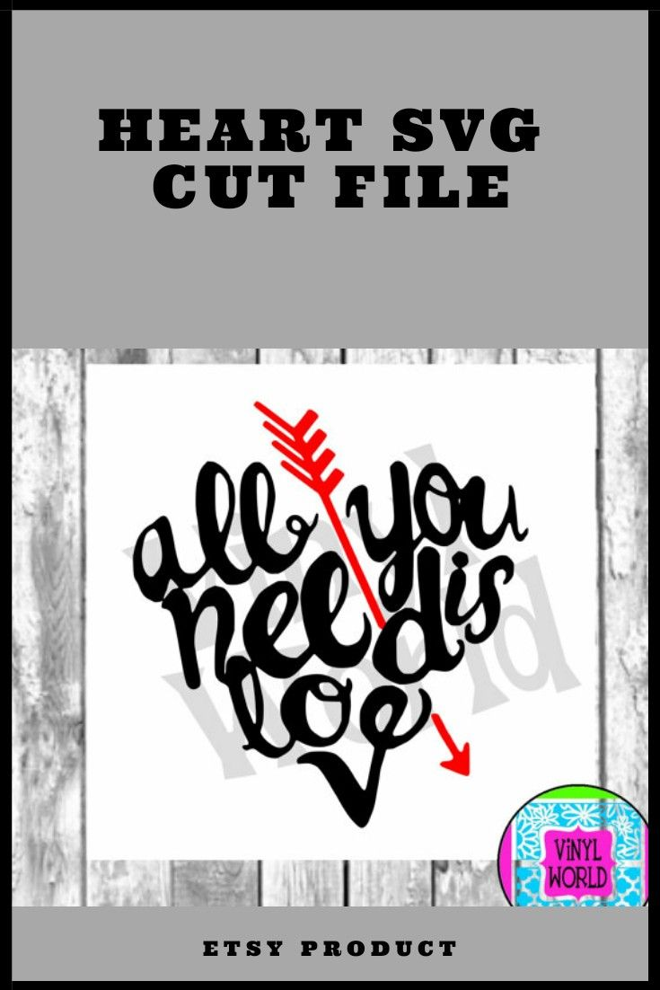 Download All you need is love SVG #ad #etsy #etsyproduct #cricut # ...