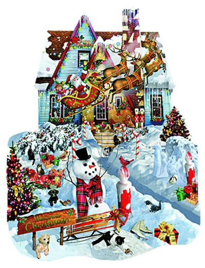 Christmas At Our House Christmas puzzle, Puzzle 1000 and Christmas
