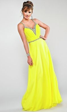 Neon yellow prom dresses | Beautiful dresses | Pinterest | Neon ...