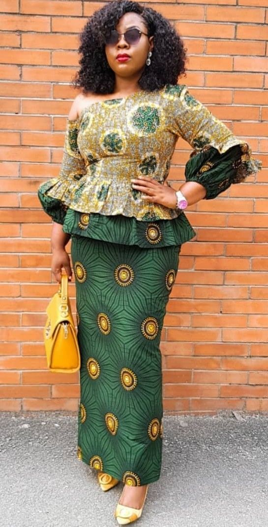 Exemples de couture africaine chic de nos jours | African dress, African fashion dresses ...