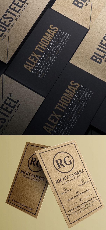 Kraft Paper Business Cards Design Branding Businesscardtemplates - Awesome business cards templates
