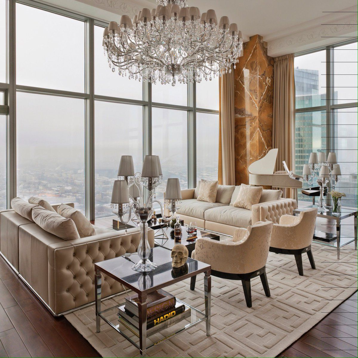 Chandeliers The most stylish interiors in