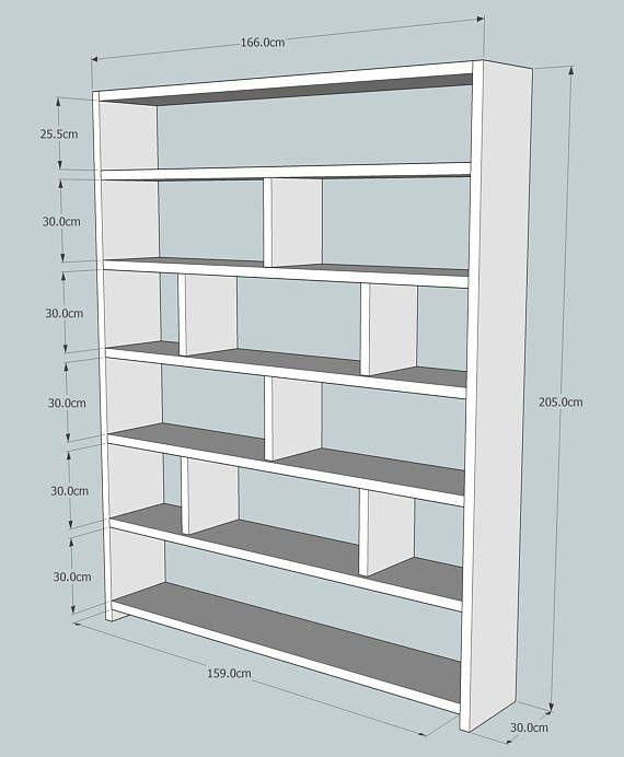 Questo splendido grande libreria in legno a base di legname recuperato  166cm Wide x 205cm alta