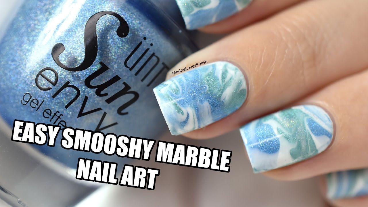 How To: Easy Smooshy Marble Nail Art || Marine Loves Polish - Marine ...