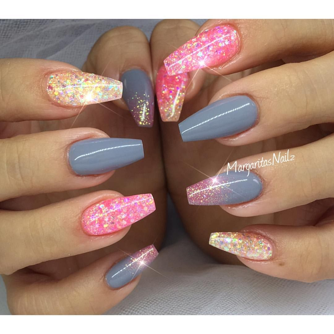 Glitter coffin nails summer 2016 nail art | Love life the way you ...
